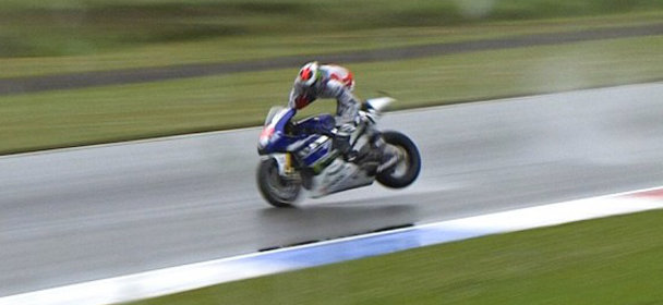 Alpinestars chute Lorenzo essais GP Assen