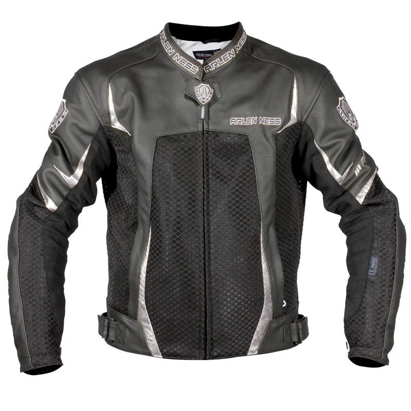 Blouson moto cuir et mesh Arlen Ness Atomic Vent