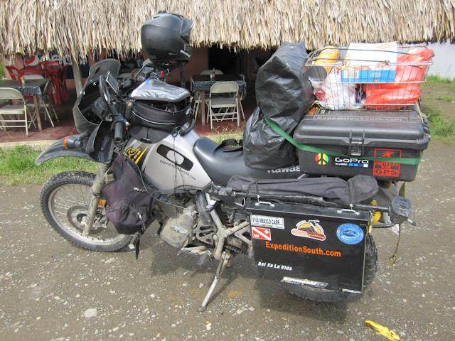 La Kawasaki KLR 650 d'Alex Chacon