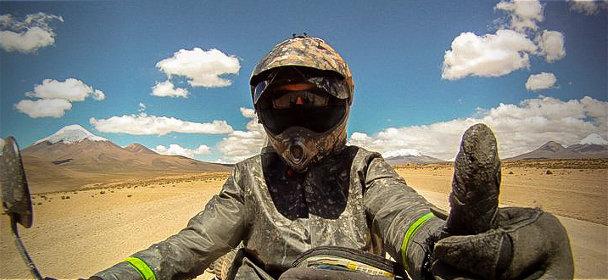 Visuel Alex Chacon, un périple à moto en Amerique Latine