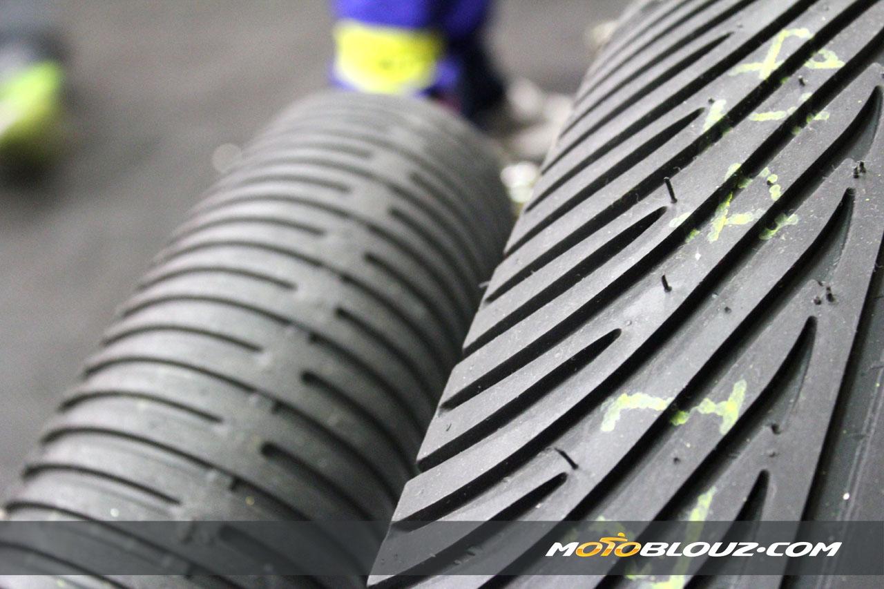 Les pneus pluie n'ont pas été utile cette année !