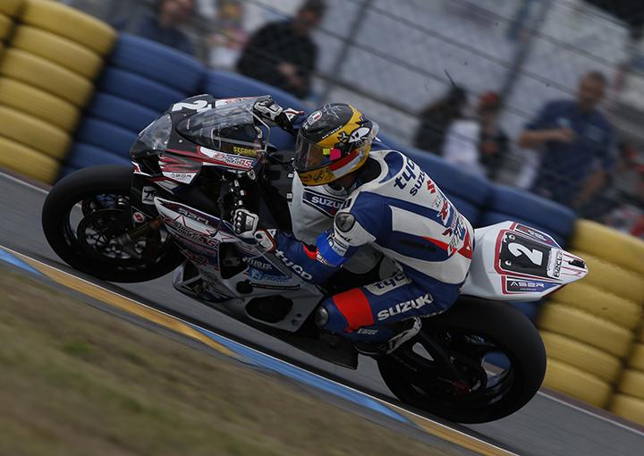 Guy Martin en action aux essais des 24h du Mans