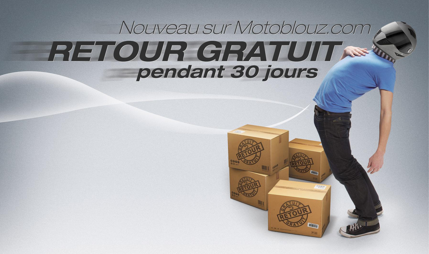 Le retour gratuit sur Motoblouz.com