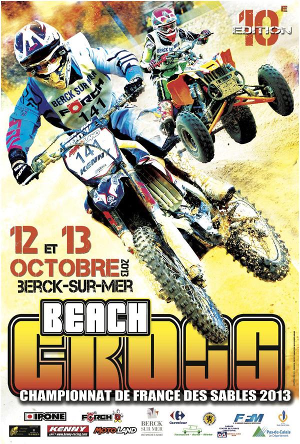 Affiche du Beach Cross de Berck sur Mer 2013
