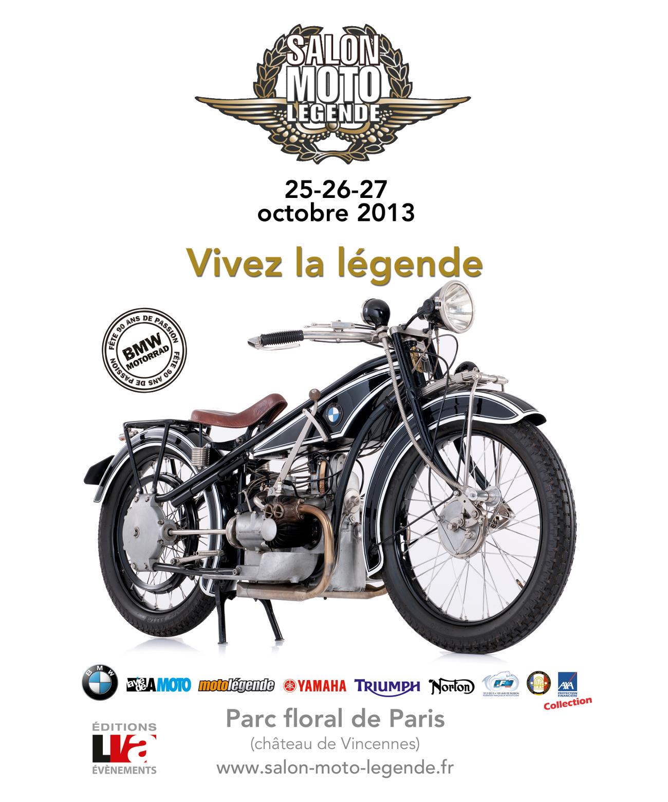 Affiche Salon Moto Legende 2013