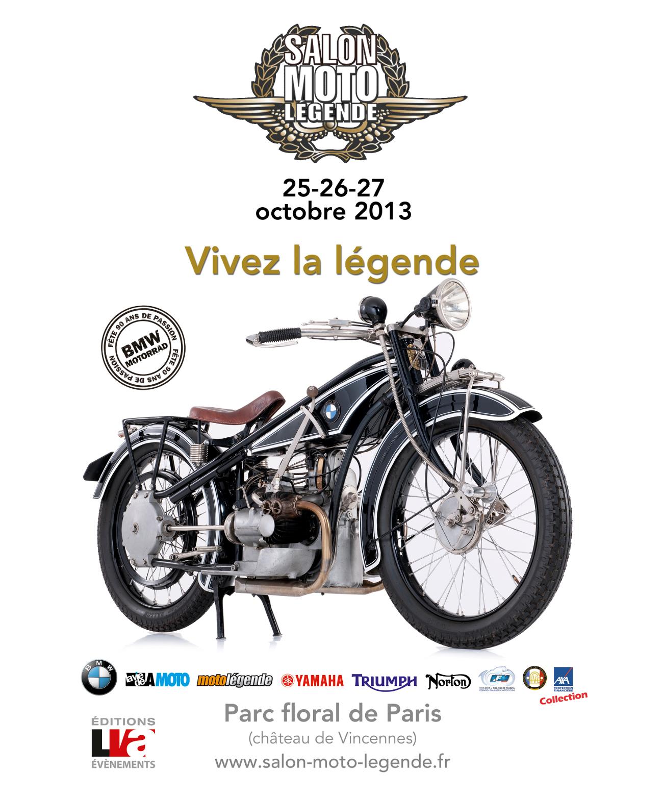 Affiche Salon Moto Legende 2013