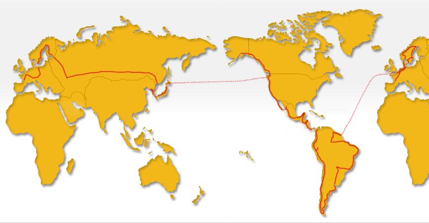 Carte itineraire Didier Vacher World Tour