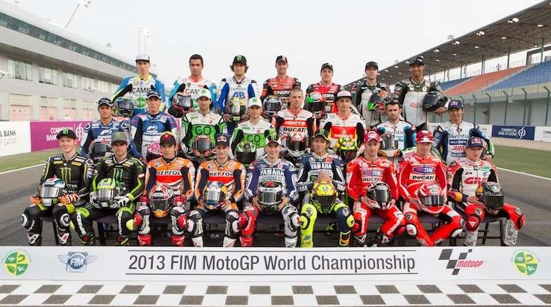 Les pilotes MotoGP officiellement inscrits la saison dernière. Beaucoup sont de nouveau dans les rangs en 2014.