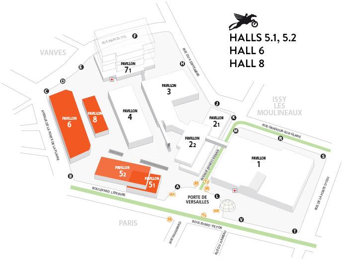 Salon de la Moto 2013 : Le plan