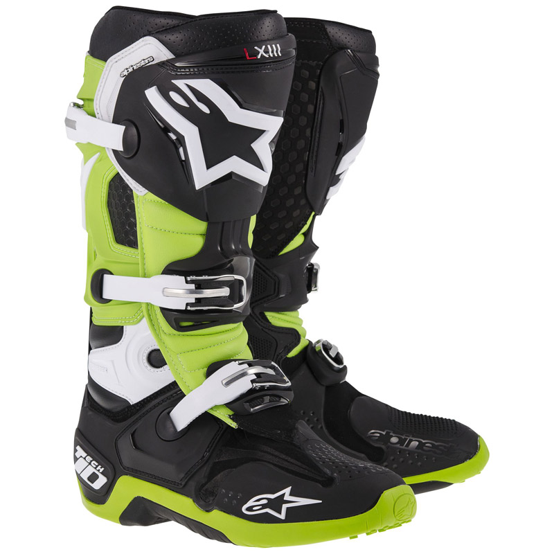 Bottes cross Alpinestars Tech 10 noir vert