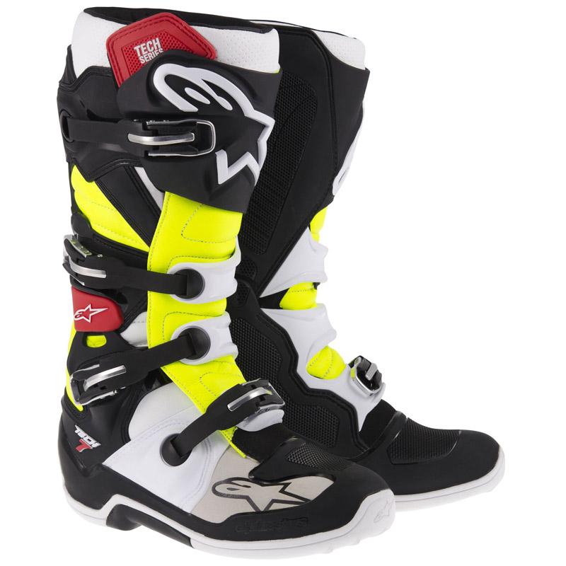 Bottes cross Alpinestars Tech 7 jaune noir blanc