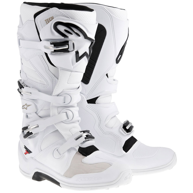 Bottes cross Alpinestars Tech 7 blanc