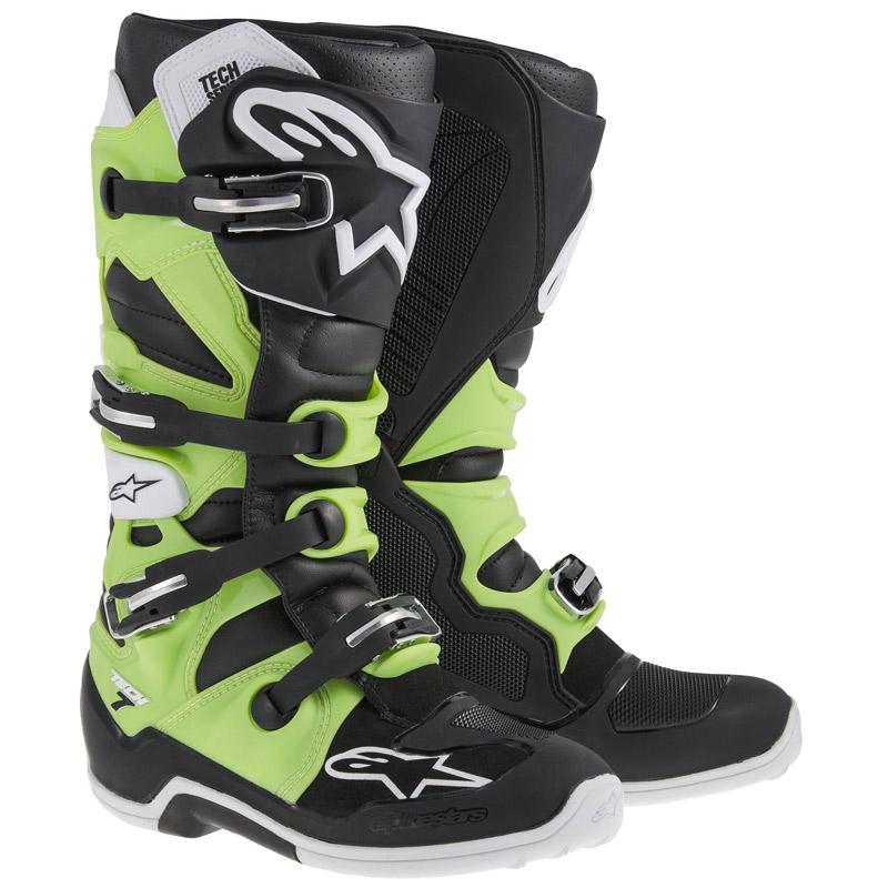 Bottes cross Alpinestars Tech 7 noir vert