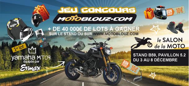 Concours Motoblouz au Salon de la Moto : Gagnez une Yamaha MT-09 et des centaines d'autres lots