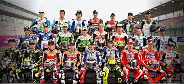 Les pilotes MotoGP officiellement inscrits en 2013