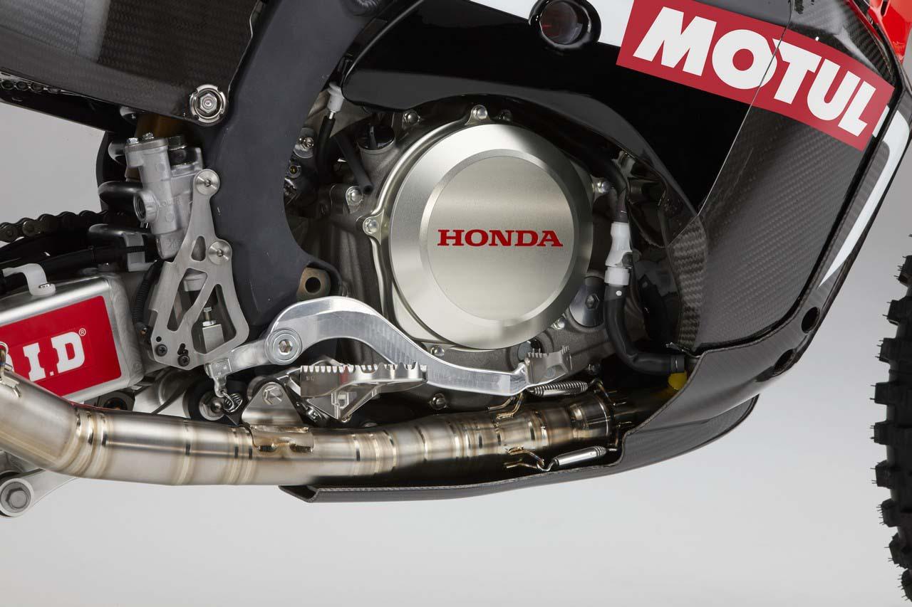 Honda CRF 450 Rally, bas moteur
