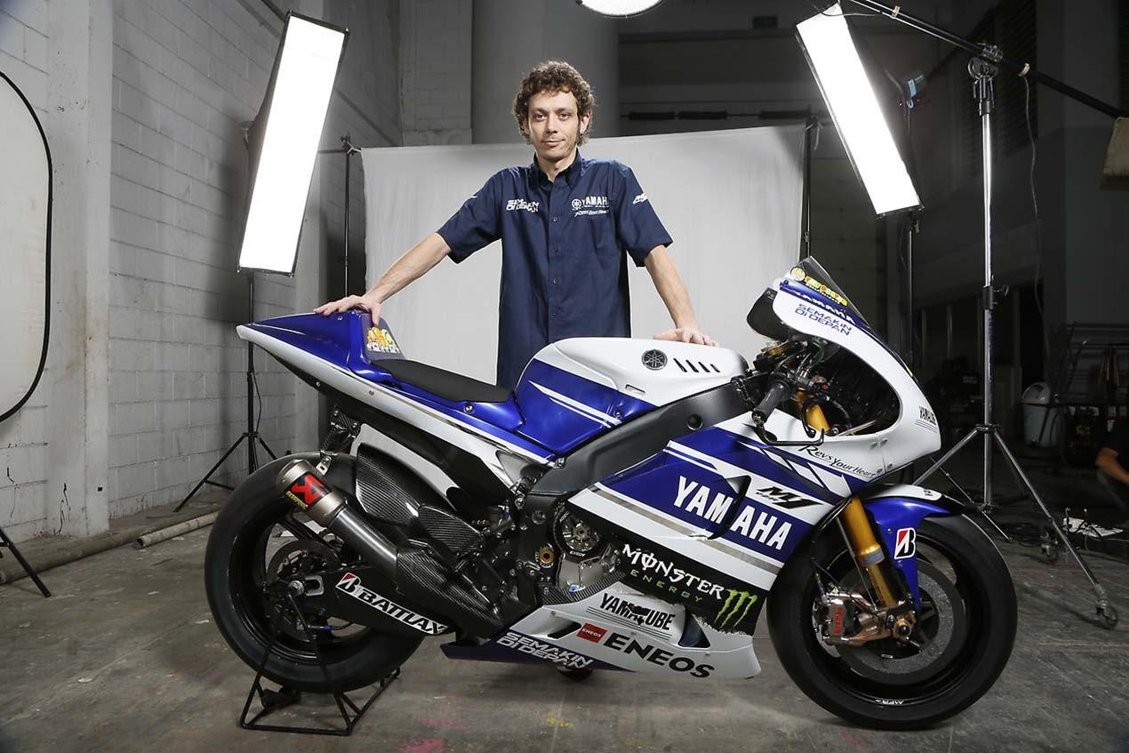 Valentino Rossi et sa Yamaha M1 2015