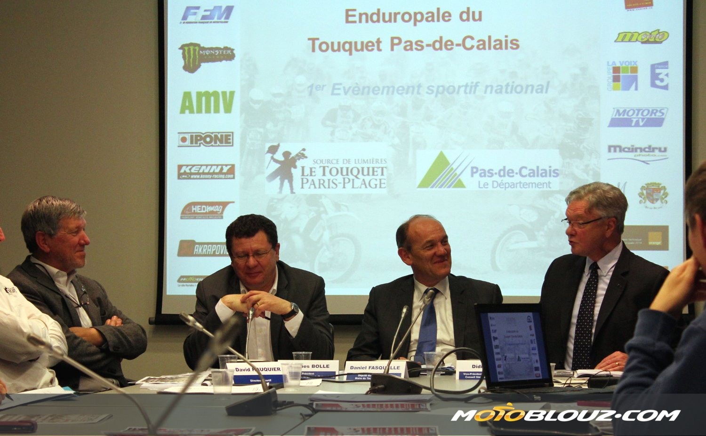 La conférence de presse de l'Enduropale