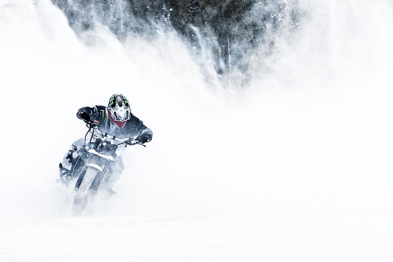 Jorian Ponomareff dans la neige