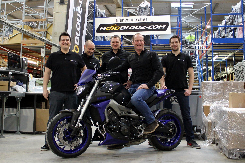 Dominique et l'équipe Motoblouz