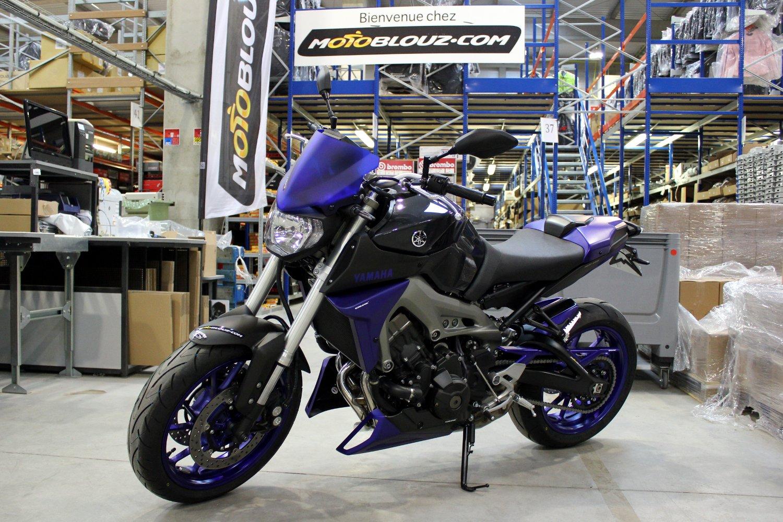 La Yamaha MT-09 Motoblouz telle qu'elle a été remise à Dominique