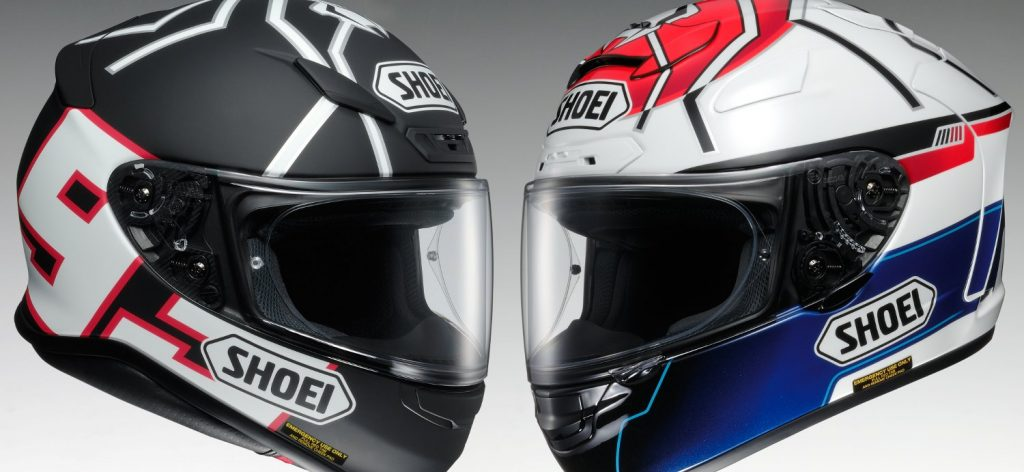 Le Shoei NXR Black Ant et le X-Spirit II Motegi, deux Replica Marquez pour 2014