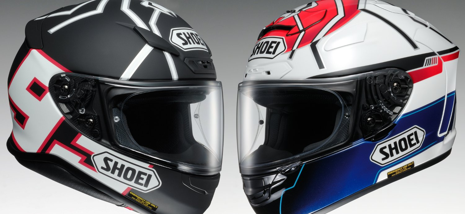 casques shoei nxr et x spirit ii marquez replica. Black Bedroom Furniture Sets. Home Design Ideas