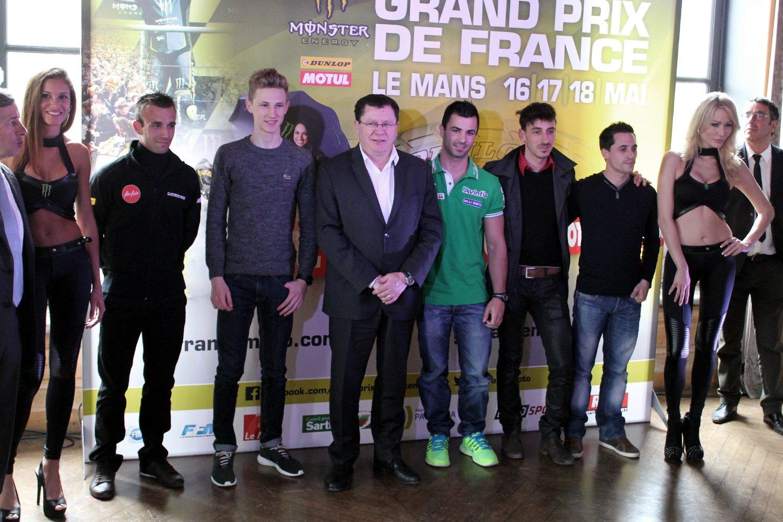 Les pilotes de Grand Prix français réunis