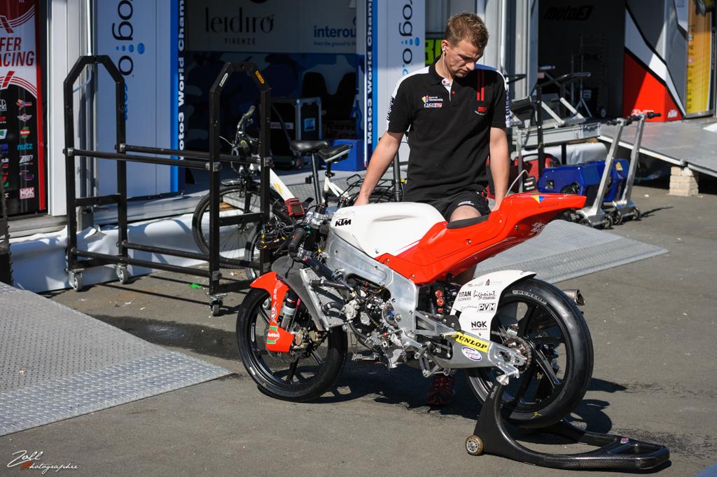 La KTM Moto3 du team Kiefer Racing