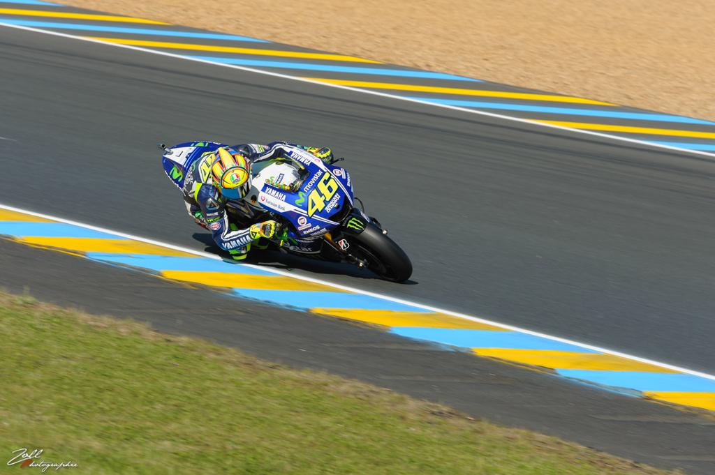 Valentino Rossi en pleine courbe
