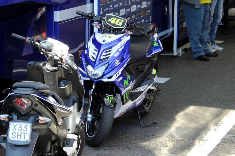 Le scooter de Rossi attend son pilote !