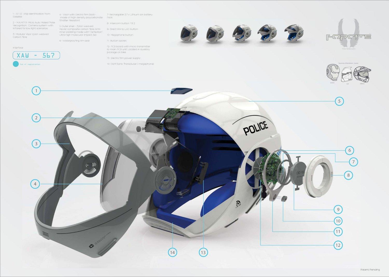 Casque moto électronique