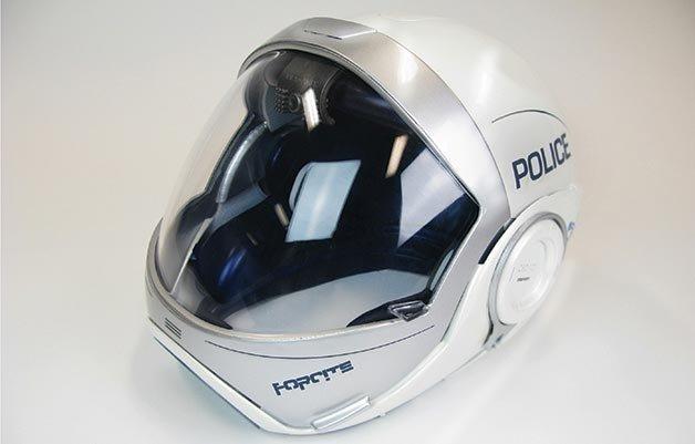 L'écran du casque police Forcite est panoramique