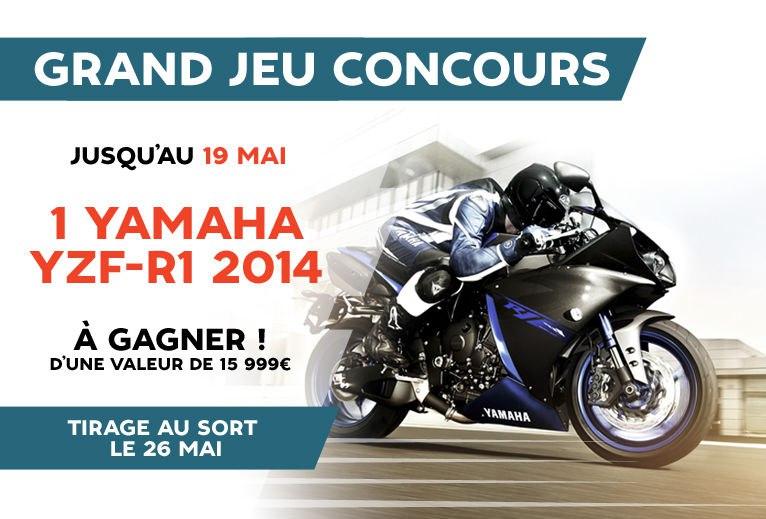 Grand jeu Motoblouz : Gagnez une Yamaha R1 Race Blue