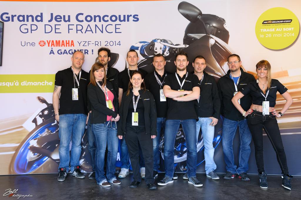 La team de choc Motoblouz présente au GP !