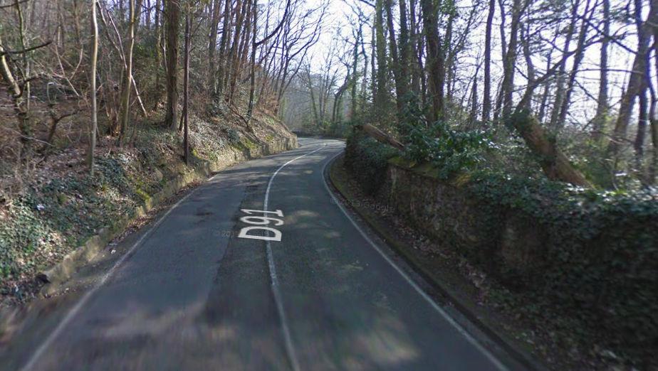 La route au 17 tournants depuis Maurepas (Yvelines)