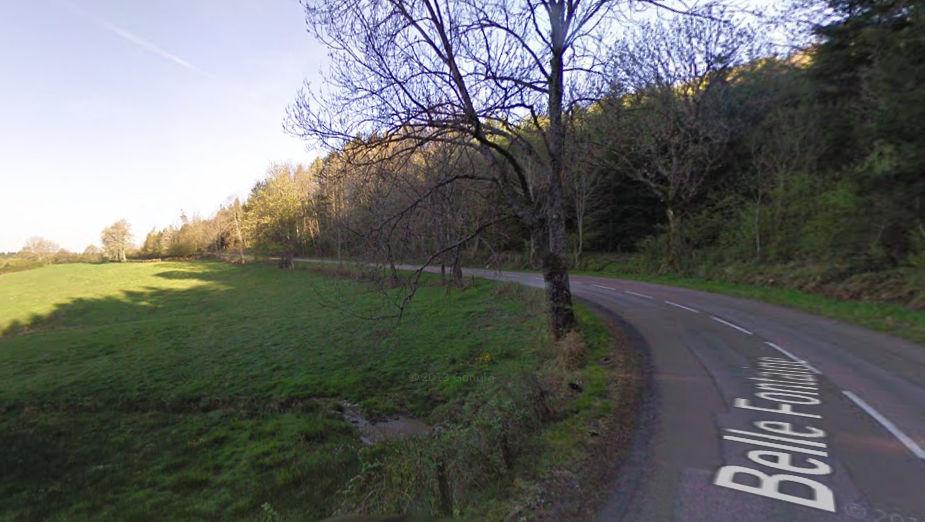 La D27 depuis Château Chinon (Nièvre)