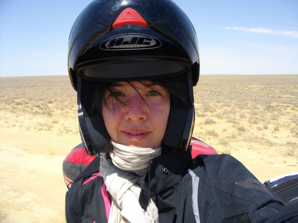 Mélusine Mallender, motarde du monde