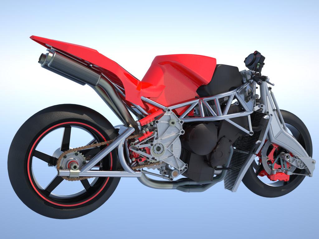 La GECO à l'étude... Rendu 3D de la moto qui verra le jour fin 2013