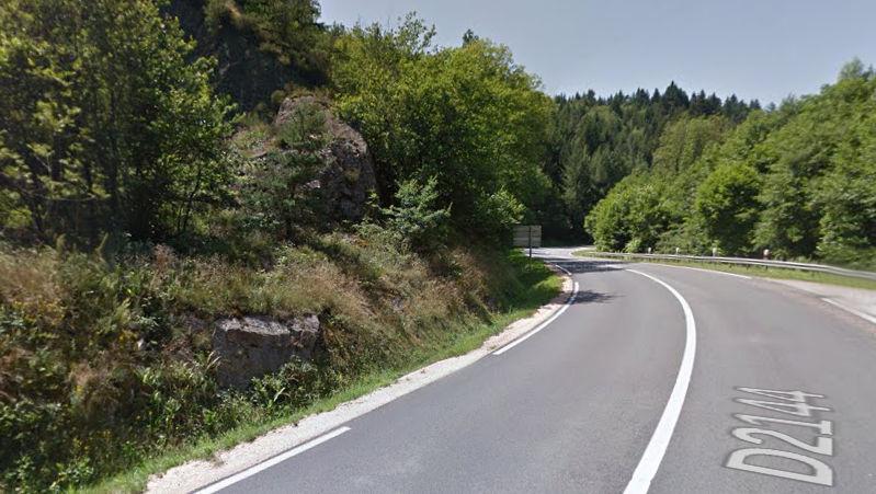 La route de la Vallée de la Sioule depuis Clermont Ferrand (Puy de Dôme)