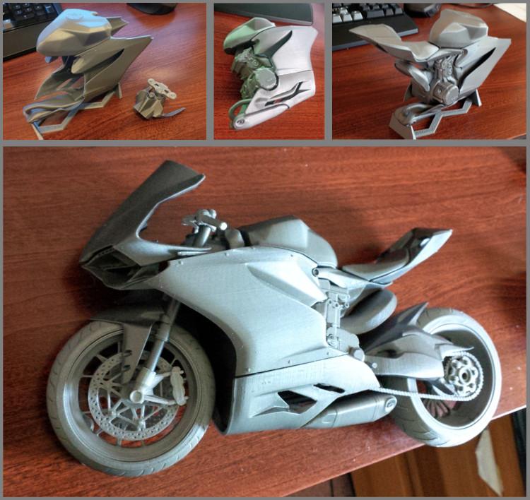 La Ducati Panigale après un premier assemblage