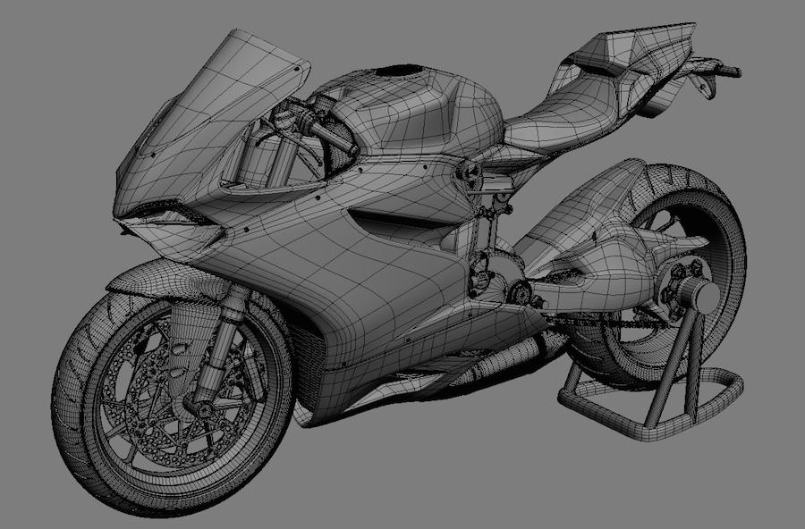 Le rendu 3D de la Ducati Panigale