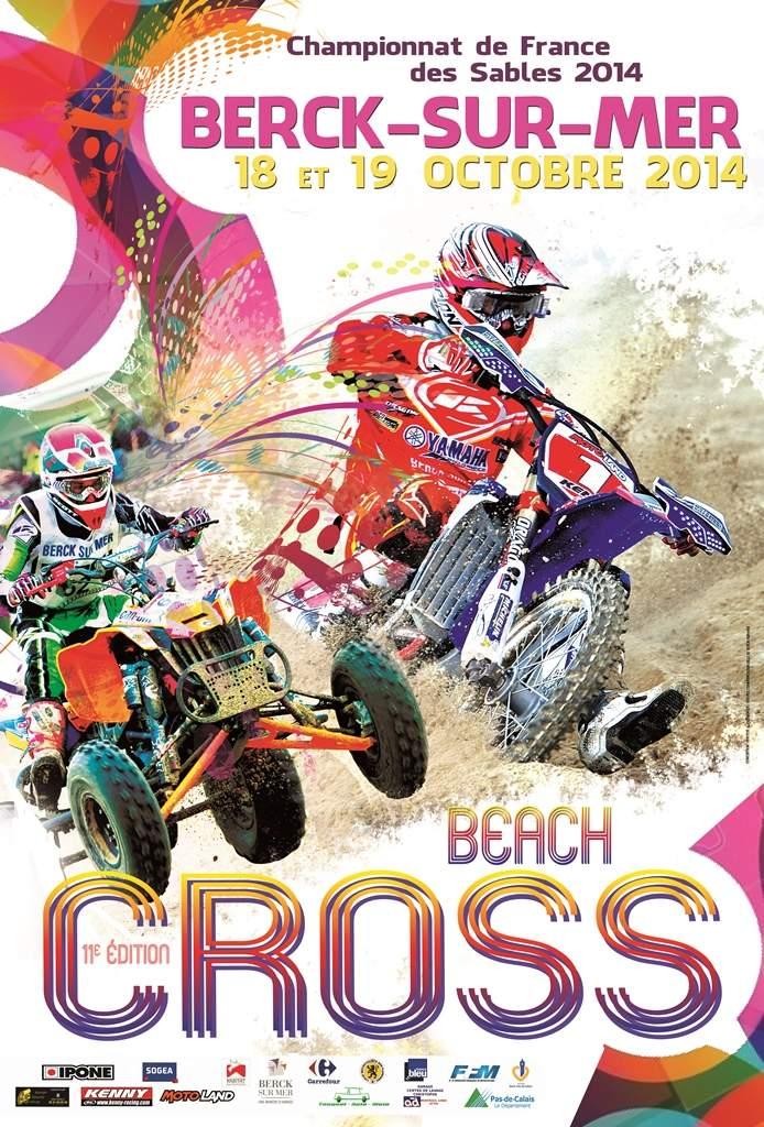 Affiche du Beach cross de Berck 2014