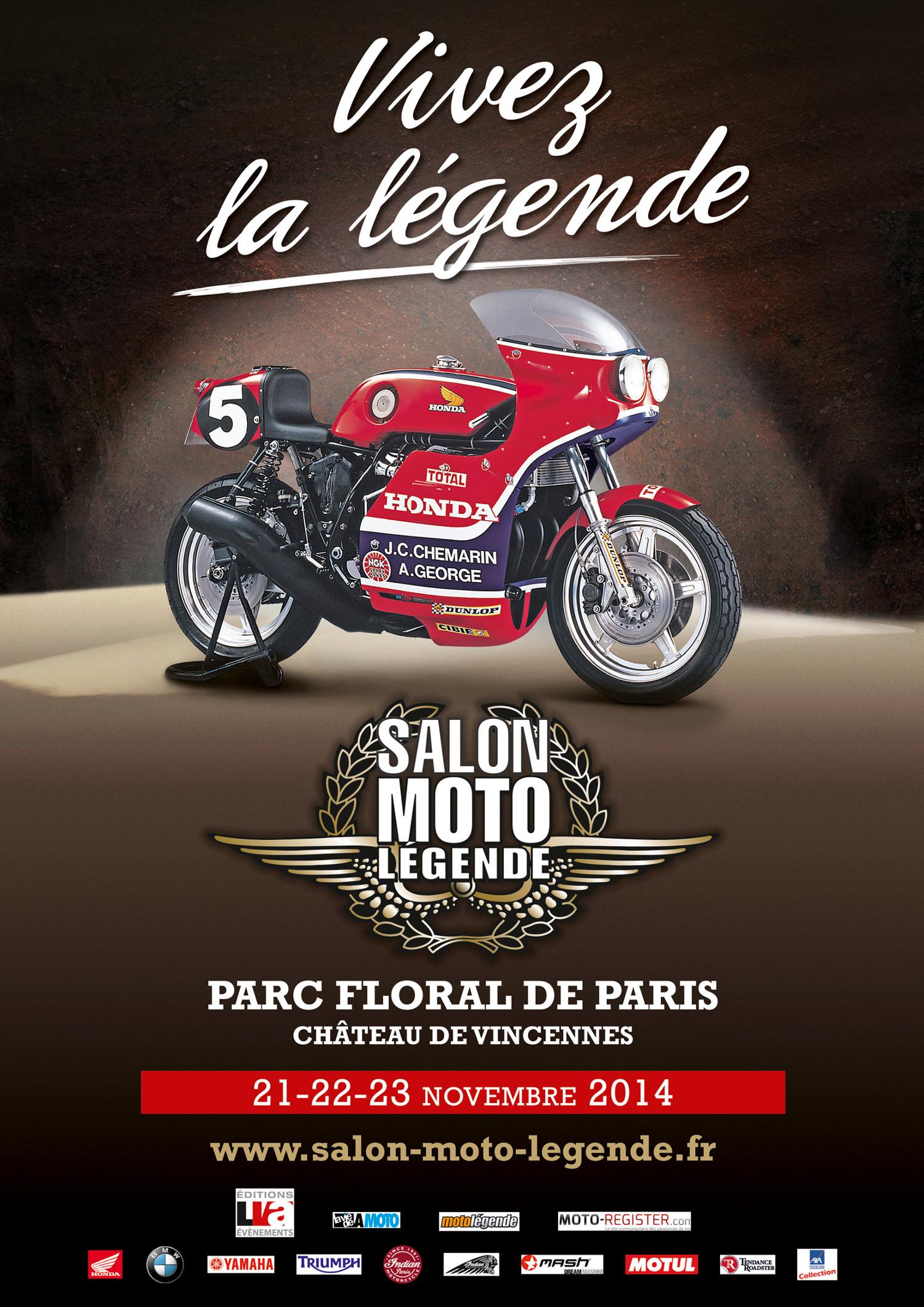 Affiche du Salon Moto Légende 2014