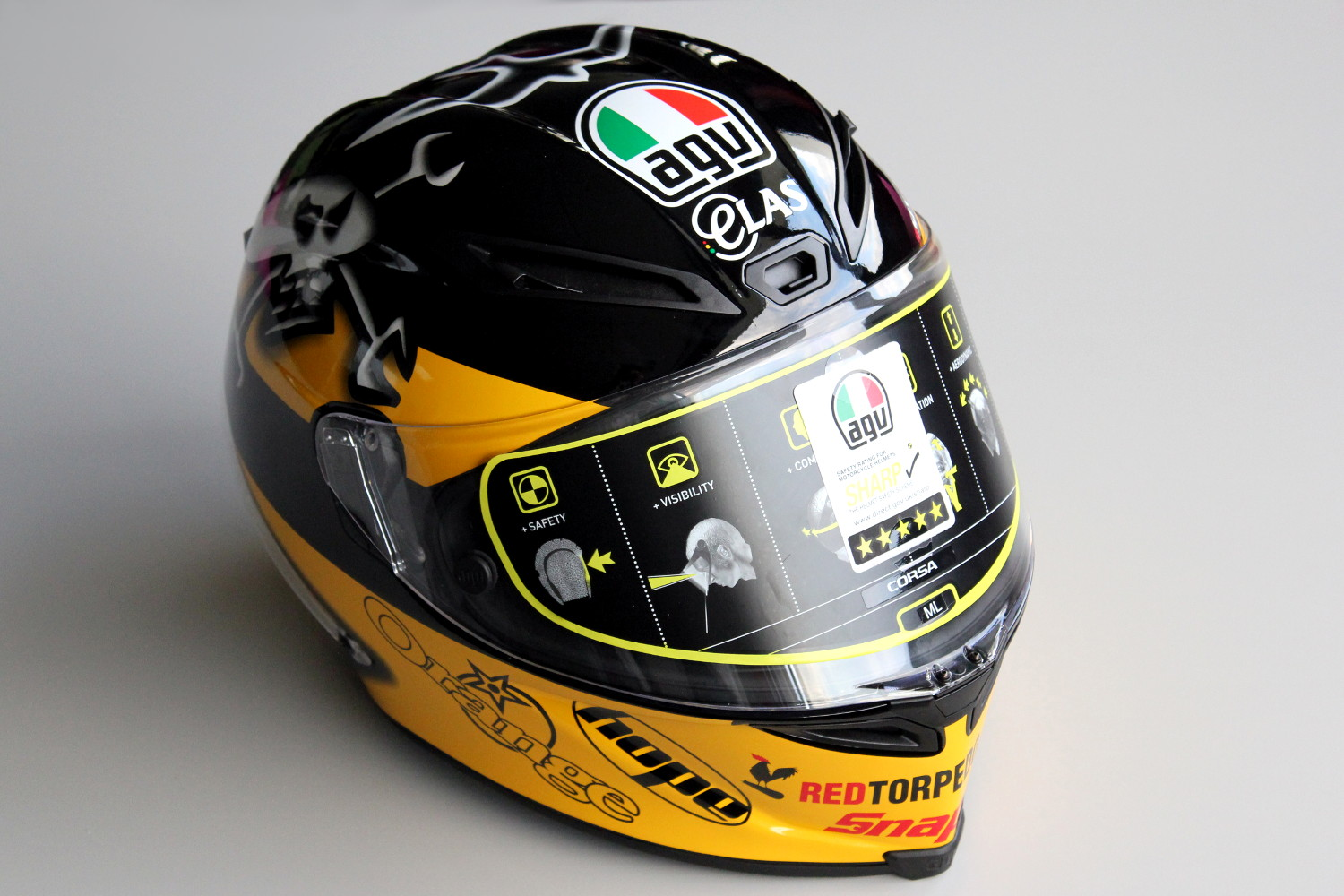 Le casque AGV Corsa replica Guy Martin