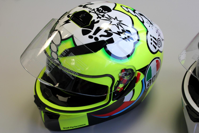 Le casque replica AGV K-3 SV Rossi Misano 2011