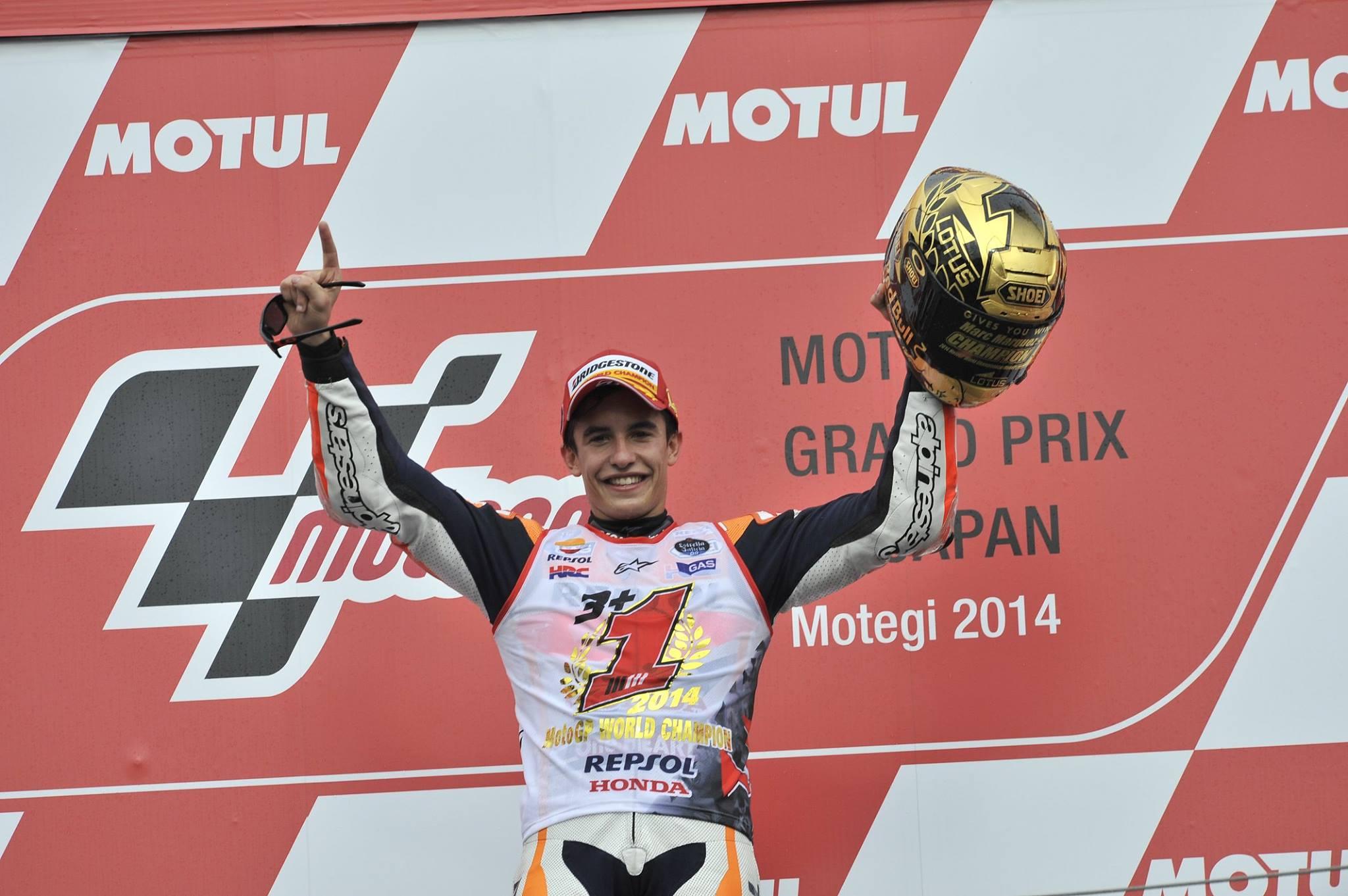 Marc Marquez et son X-Spirit II titre 2014