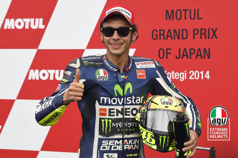 Rossi, indemne en dépit de sa violente chute