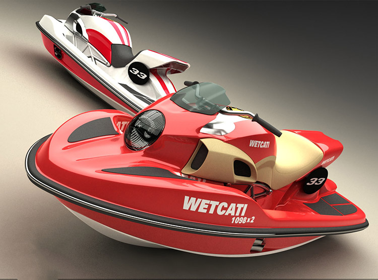 Wetcati, une Ducati Diavel version jet ski !