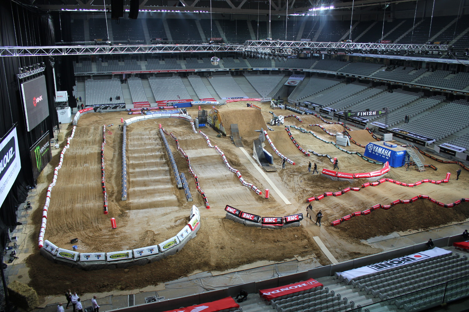 Aperçu global du terrain du Supercross